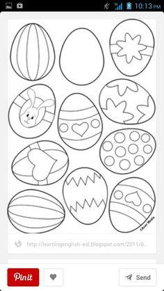 Easter Egg Printable Take Note Walker Dee