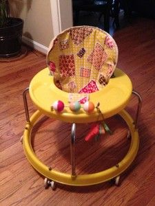 Vintage Retro Old Baby Child Infant Seat Chair Walker Yellow   eBay