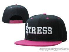 Cheap Wholesale STRESS Snapback Hats Black Pink for slae at US$8.90 #snapbackhats #snapbacks #hiphop #popular #hiphocap #sportscaps #fashioncaps #baseballcap
