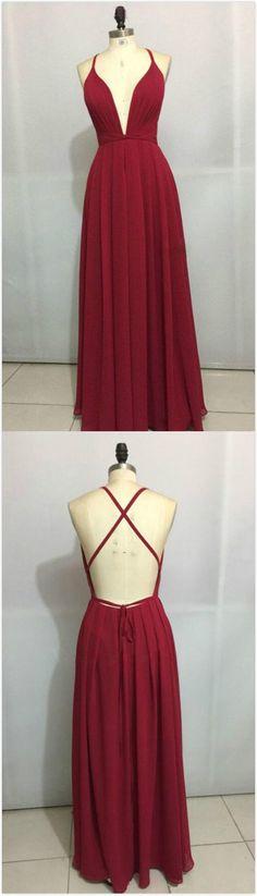 Burgundy Prom Dress, Long Prom Dresses, Cheap Prom