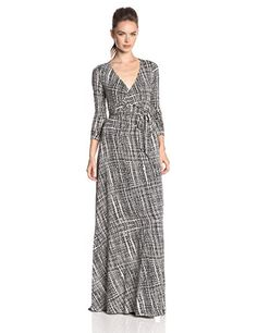 Rachel Pally Women's Harlow Long Sleeve Maxi Wrap Dress, Black Sisal, Large Rachel Pally http://www.amazon.com/dp/B00NMQDJ1G/ref=cm_sw_r_pi_dp_j8cPub15A7DN6