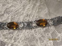 Antique 1920 Filigree Rhodium Bracelet by NouveauBridal on Etsy, $100.00