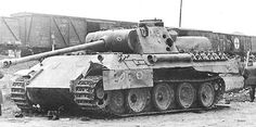 A German Panther that has been used for armor penetration tests by the Red Army. Notice the very large hole in the back portion of the turret; probably made by a Soviet 152mm cannon like the ones used on the ISU-152 Assault Guns.