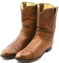 Justin Mens Cowboy Boots Size 10 E Brown Leather Western Work Boot Roper 3163