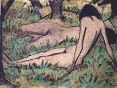 Otto Müller, Two Girls in the Wood, c. 1920, oil on canvas (Pinakothek deer Moderne, Munich)