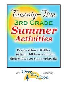 Third Grade Summer Activities-NO worksheets! I LOVE TpT!!