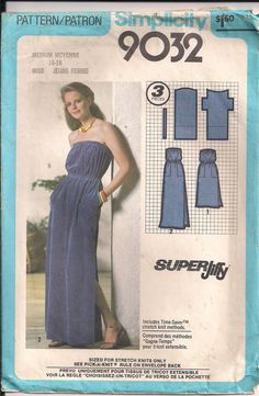 Vintage 70s JIFFY Sewing Pattern STRAPLESS Maxi by HoneymoonBus, $9.99