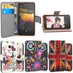 Flip Floral Wallet Leather Case Designer Wallet Cover For Nokia Lumia 630 & 635