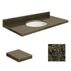 Transolid Sea Green Granite Undermount Single Sink Bathroom Vanity Top (Common: 49-in x 22-in; Actual: 49-in x 22-in)
