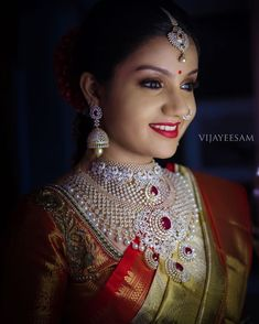 Top 13 Traditional South Indian Wedding Jewellery Trend of This Year • South India Jewels Wedding Jewelry For Bride, Bridal Jewelry, Ivory Wedding, Wedding Bride, Wedding Ideas, Long Pearl Necklaces, Gold Necklace, Emerald Necklace, Pendant Necklace