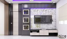 Modern Tv Unit Designs, Modern Tv Wall Units, Living Room Tv Unit Designs, Tv Unit Interior Design, Tv Unit Furniture Design, Tv Unit Decor, Tv Wall Decor, Tv Cupboard Design, Lcd Wall Design
