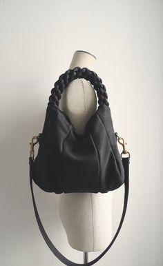 ILEMI PARIS Leather Bag Sbidous/Calf  Nubuk Black/Smaller by ilemi, €650,00