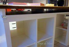 Aménager son atelier (1) : la table de découpe [Tuto inside] - Le Temps de Vivre... Coin Couture, Sweet Home, Desk, Room, Hui, Furniture, Models, Sewing, Home Decor