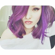 Dove showing hair purple hair for Descendants