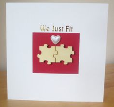 We just fit card, Valentines day card, Engagement card, Anniversary card, Groom to bride, Bride to be card, Wedding day, Wife to be, fiancee Fiancee, Engagement Cards, Gold Letters, Card Wedding, Wedding Day, Wooden Puzzles, Artist Trading Cards, Organza Bags, Anniversary Cards