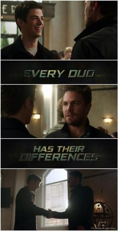 Oliver & Barry. Very different personalities, but still great heroes who can learn a lot from each other and make a solid team when they decide to work together.