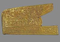 Quiver plaque with Achilles story scythian  4th century BCE.  Melitopolsky tumulus, Melitopol, Zaporizhia Region.  Excavations 1954.