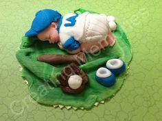 Baby in LA Uniform/Cake Topper/BABY SHOWER Cake Decoration/Edible Cake Topper/ Baby topper
