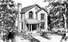 European Style House Plan - 3 Beds 2.5 Baths 2000 Sq/Ft Plan #322-102 - Houseplans.com European Fashion, European Style, Abandoned Houses, Building Plans, House Floor Plans, Acre, Old Things, House Design, Cabin