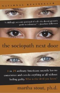 Fantastic book about conscience and those who have none