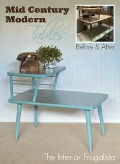 How To Give MCM Arborite Table Tops The Look Of Tin | The Interior Frugalista