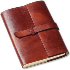 "Handcrafted in Gubbio, Italy, this Large Unlined Monastic Italian Leather Journal features a large leather flap closure or ""latch"" and soft refillable cover ."