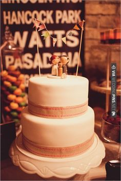 simple white wedding cake from Cupcakery   CHECK OUT MORE IDEAS AT WEDDINGPINS.NET   #weddingcakes