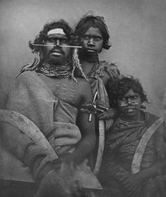 An 1847 daguerreotype of a south-east Australian Aboriginal and two younger companions
