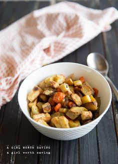 Roasted Sweet Potatoes, Apples and Carrots — A Girl Worth Saving