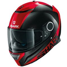 Buy the Shark Spartan Carbon Skin DRR helmet Black/Red at Motolegends with free UK delivery and returns on all protective wear. Shark Helmets, Full Face Motorcycle Helmets, Custom Motorcycle Helmets, Custom Helmets, Full Face Helmets, Motorcycle Gear, Bike Helmets, Women Motorcycle, Moto Ducati