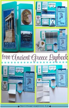 Free Ancient Greece. Grab this second lapbook about Ancient Greece. It is a free homeschool unit study along with hands-on history activies. Grab this free lapbook over @ Tina's Dynamic Homeschool Plus