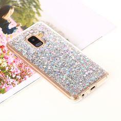 Glitter Sequins Glossy Acrylic + TPU Hybrid Case for Samsung Galaxy A8