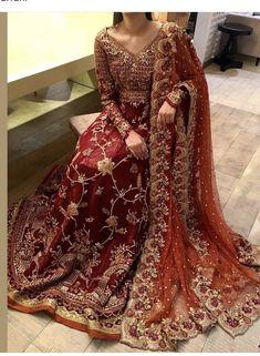 Pakistani Bridal Couture, Pakistani Fashion Party Wear, Pakistani Wedding Outfits, Indian Bridal Outfits, Indian Bridal Lehenga, Pakistani Dress Design, Walima Dress, Shadi Dresses, Latest Bridal Dresses