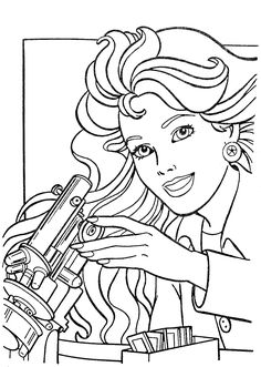 Barbie Coloring Pages, Coloring Book Pages, Coloring Sheets, Cute Couple Art, Cute Couples, Coloring Pages For Kids, Kids Coloring, Drawing Sketches, Drawings