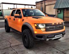 Orange Ford Raptor