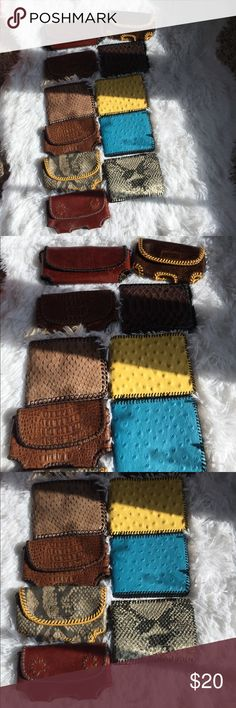🎉Buy 1, get 2 free! Handmade wallets! Handmade leather wallets/money holders.  Six money holders with belt loop insert on back and five traditional wallets.  Buy 1 get 2 free! Comment which ones you purchase for future buyers!  Thanks for looking! Bags Wallets