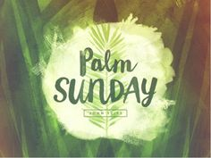 Cute graphic for Palm Sunday