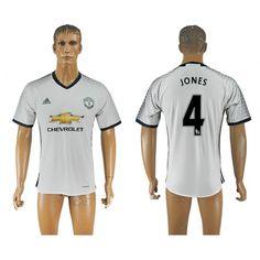 Manchester United 16-17 #Jones 4 3 trøje Kort ærmer,208,58KR,shirtshopservice@gmail.com