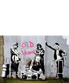 Banksy Canvas Prints Small Old Skool Canvas, Designer Homeware Sale, Banksy Canvas Prints, Secret Sales