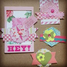 Paper embellishments made from left over scraps. marymishmash.etsy.com