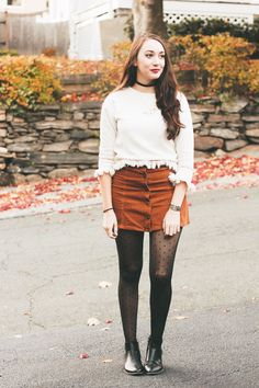 How to wear winter white + polka dot tights #themosthappystyle