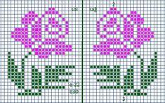 Kawaii Cross Stitch, Tiny Cross Stitch, Beaded Cross Stitch, Cross Stitch Alphabet, Cross Stitch Flowers, Cross Stitch Designs, Cross Stitch Patterns, Broderie Bargello, Knitted Mittens Pattern