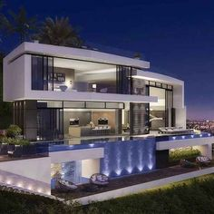Architecture by Vantage Design Group. You can find Arquitetura and more on our website.Architecture by Vantage Design Group. Modern Architecture House, Modern House Design, Architecture Design, Modern Houses, Fancy Houses, Loft Design, Beautiful Modern Homes, Luxury Homes Dream Houses, Dream Homes