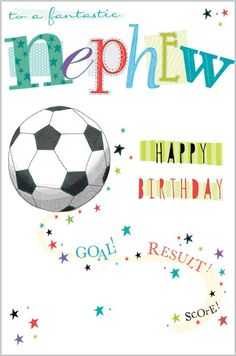 Card Ranges » 4845 » Nephew - Football - Abacus Cards - Greetings Cards, Gift Wrap & Stationery
