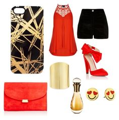"""""""cover 4"""" by candynena228 ❤ liked on Polyvore featuring Khristian A. Howell, City Chic, River Island, Lipsy, Mansur Gavriel, Lydell NYC, Kate Spade and Christian Dior"""