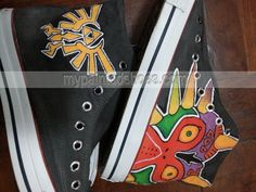 majora's mask shoes #zelda triforce symbol shoes Unisex Hand Pain