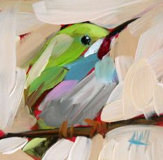 Tody Bird no. 3 Art Print by Angela Moulton 4 x 4 inch prattcreekart