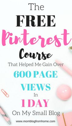 Pinterest is such a powerful tool for a new blogger. I didn't realize just how much until after taking this FREE course on Pinterest. McKinzie helps walk you through setting up your profile for success and explains how to drive traffic to your blog through Pinterest! I am shocked at the results I have had! I went from 39 views one day to 645 the next day! It is a no brainer for new bloggers to take this course! This is my affiliate link to her FREE course Pinterest Primer!