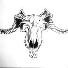Goat Skull Tattoo Design