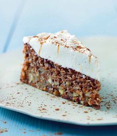 Cake nature fast and easy - Clean Eating Snacks Danish Cake, Danish Food, Köstliche Desserts, Delicious Desserts, Yummy Food, Sweet Recipes, Real Food Recipes, Cake Recipes, Best Carrot Cake